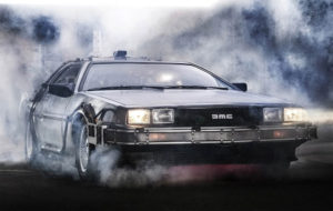 delorean flying car picture