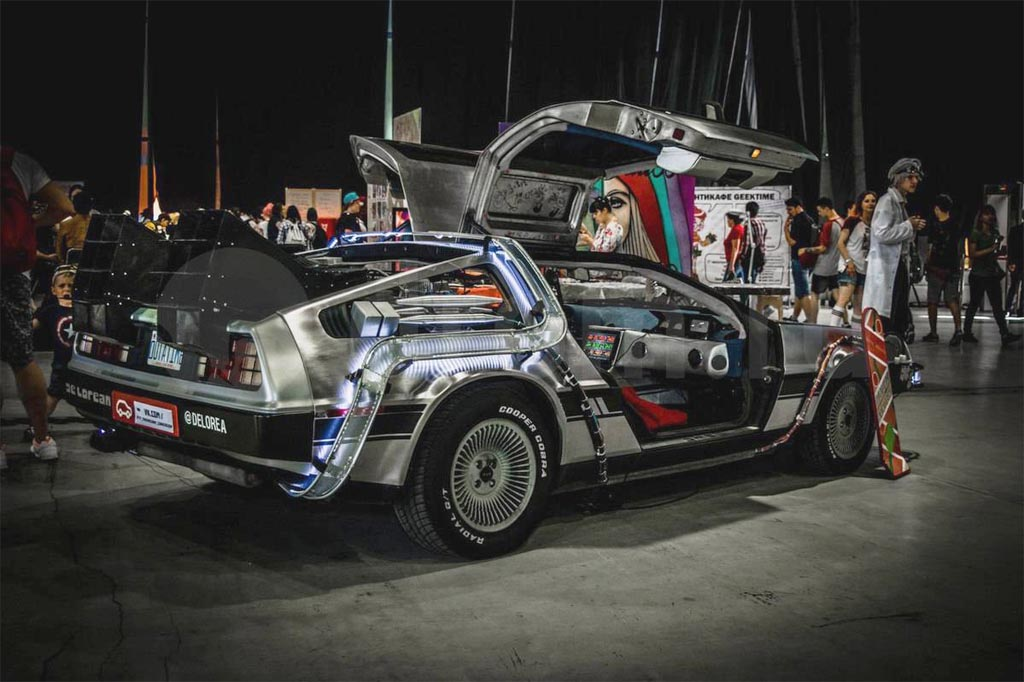 delorean time machine show