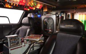 delorean time machine interior