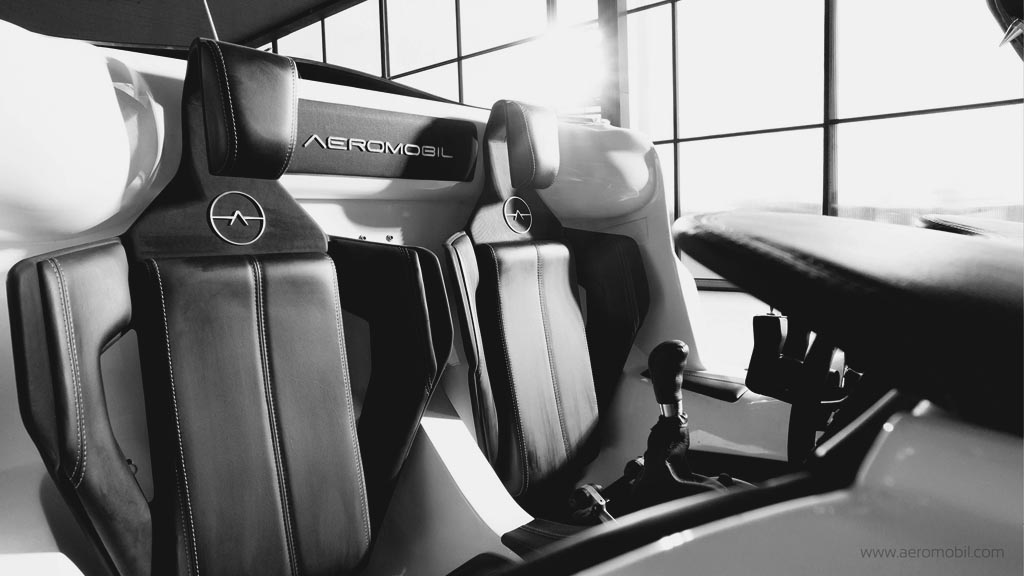 flying car seats and interior