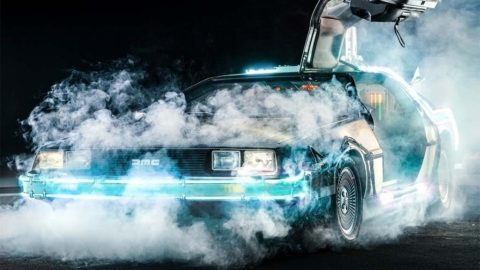 Time machine Delorean from Back to the future – BTTF