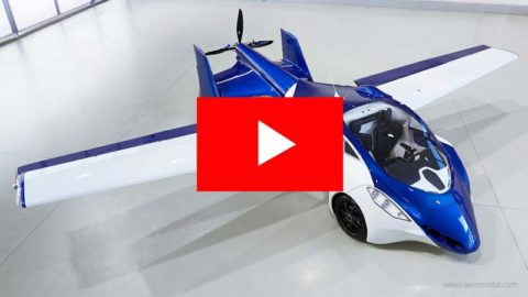 The official video of an AEROMOBIL 3.0 flying car